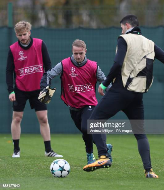 Celtics Leigh Griffiths during the training session at Lennoxtown Glasgow