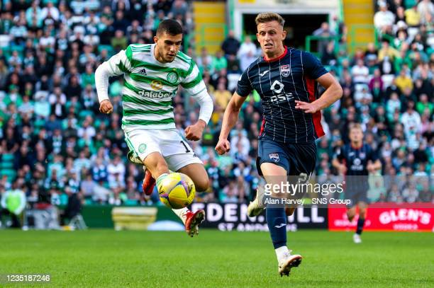 Celtic's Liel Abada n action during a cinch Premiership match between Celtic and Ross County at Celtic Park on September 11 in Glasgow, Scotland