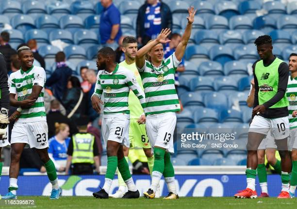 Celtic's Moritz Bauer at full time during the Ladbrokes Premier match between Rangers and Celtic at Ibrox Stadium, on September 1 in Glasgow,...