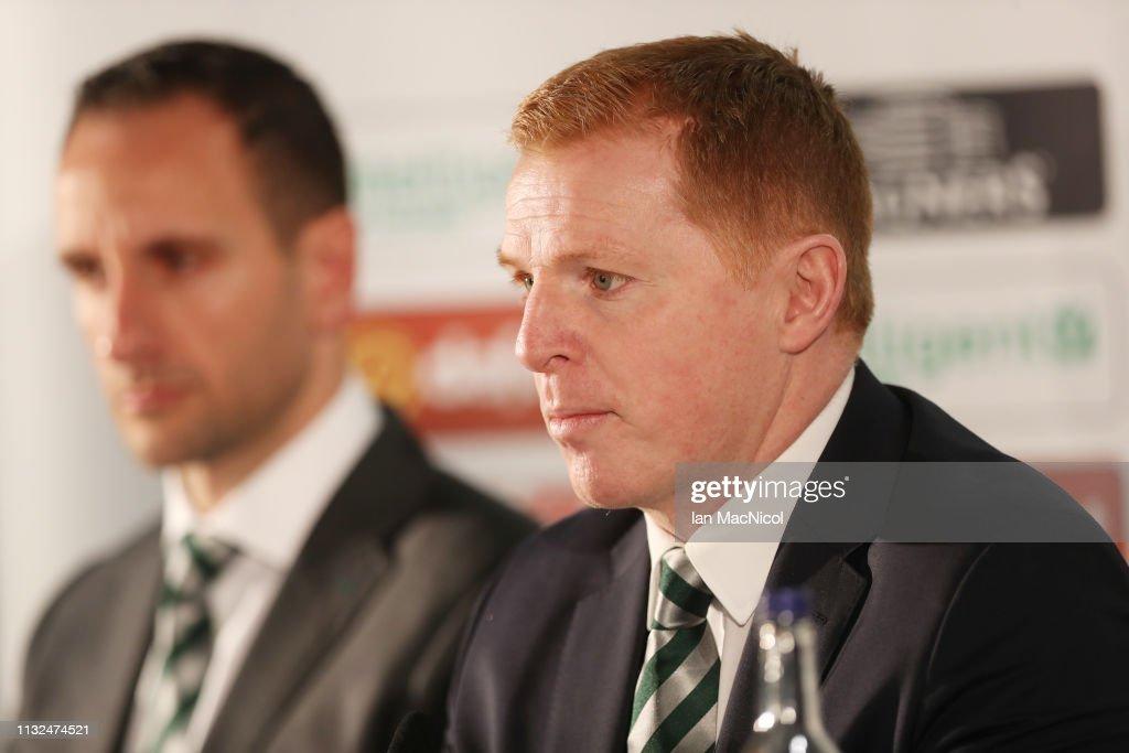 Celtic Press Conference : News Photo