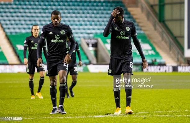 Celtic's Odsonne Edouard at Full Time during a Scottish Premiership match between Hibernian and Celtic at Easter Road on November 21 in Edinburgh...