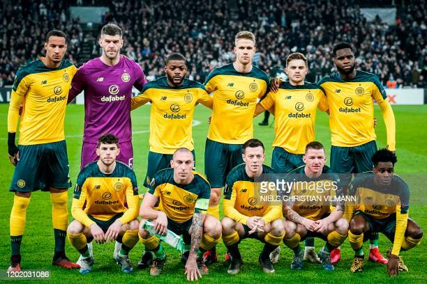 Celtic's players pose for a team picture prior to the Europa League last 32 first leg football match between FC Copenhagen and Celtic in Copenhagen...