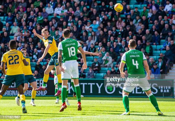 Celtic's Ryan Christie scores to make it 11 during the Ladbrokes Premiership match between Hibernian and Celtic at Easter Road on September 28 in...