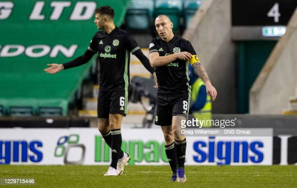 Celtic's Scott Brown during a Scottish Premiership match between Hibernian and Celtic at Easter Road on November 21 in Edinburgh Scotland