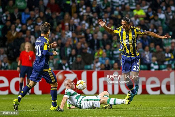 Celtic's Scott Brown vies with Fenerbahce's Bruno Alves during the UEFA Europa League Group A match between Celtic FC and Fenerbahce at Celtic Park...