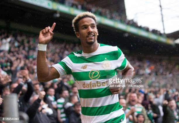 Celtic's Scott Sinclair celebrates scoring his side's first goal of the game during the UEFA Champions League Qualifying Second Round Second Leg...