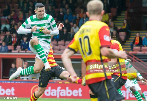 Celtic's Tom Rogic scores his side's third goal of the game during the Betfed Cup Second Round match at the Energy Check Stadium at Firhill Glasgow