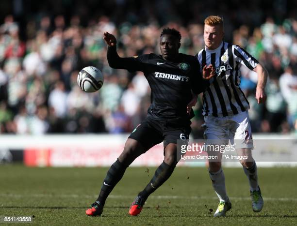 Celtic's Victor Wanyama and St Mirren's Conor Newton during the Scottish Cup Sixth Round at St Mirren Park Paisley