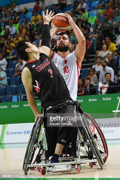 Cem Gezinic of Turkey competes in the Men's Wheelchair Basketball group A preliminary between Turkey and Japan during the Rio 2016 Paralympic Games...