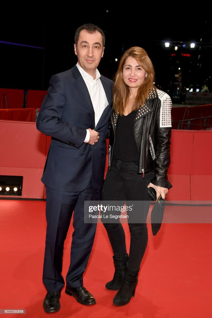 Cem Oezdemir and his wife Pia Maria Castro attend the 'Pig' (Khook) premiere during the 68th Berlinale International Film Festival Berlin at Berlinale Palast on February 21, 2018 in Berlin, Germany.