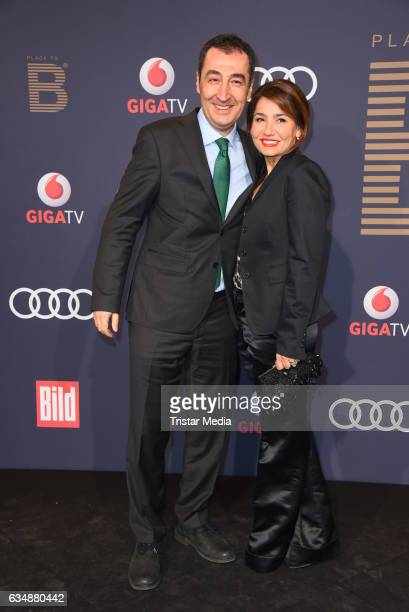 Cem Oezdemir and his wife Pia Maria Castro attend the PLACE TO B Party at Borchardt on February 11 2017 in Berlin Germany