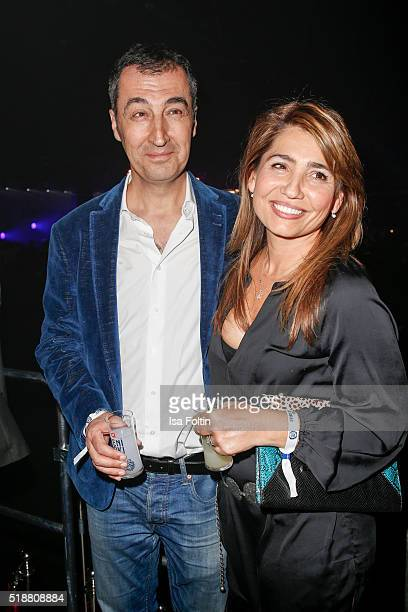 Cem Oezdemir and his wife Pia Maria Castro attend the Spirit of Istanbul Festival on April 02 2016 in Berlin Germany