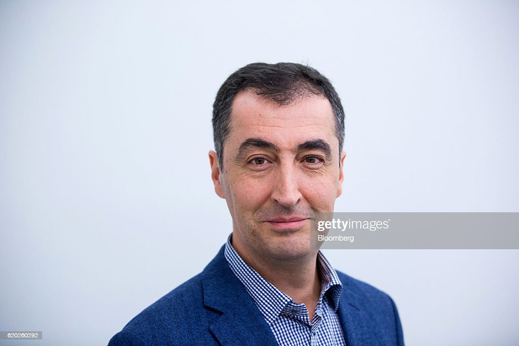 Germany's Green Party Co-Leader Cem Oezdemir Interview : News Photo
