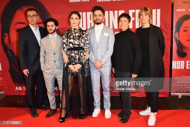 Cem Oezdemir, Rauand Taleb, Almila Bagriacik, Aram Arami, Seyran Ates and Sherry Hormann attend the 'Nur eine Frau' premiere at Kino International...