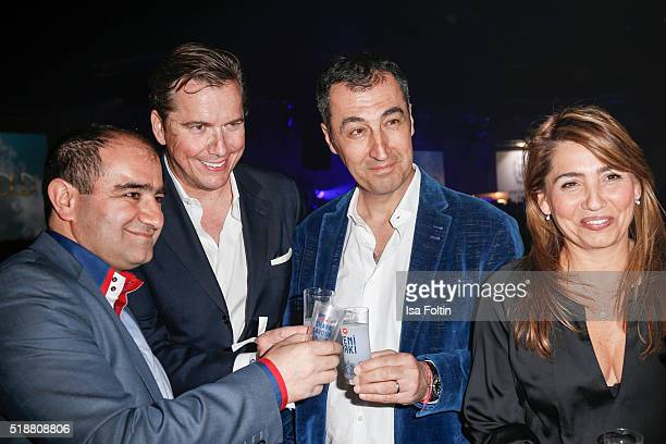 Cem Oezdemir with his wife Pia Maria Castro and guests attend the Spirit of Istanbul Festival on April 02 2016 in Berlin Germany