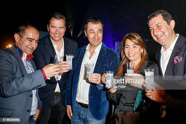 Cem Oezdemir with his wife Pia Maria Castro Galip Yorgancioglu and guests attend the Spirit of Istanbul Festival on April 02 2016 in Berlin Germany