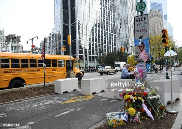 Cement barricades were placed along the West Side Highway bike path on November 3 2017 in New York City Sayfullo Saipov an immigrant from Uzbekistan...