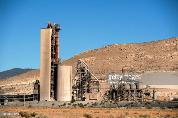Cement factory at roadside of California State Route 58, California, USA