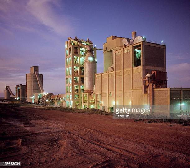cement plant at sunset - fabio filzi stock photos and pictures