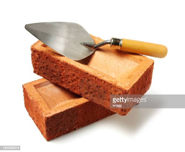 Cement Trowel and Bricks