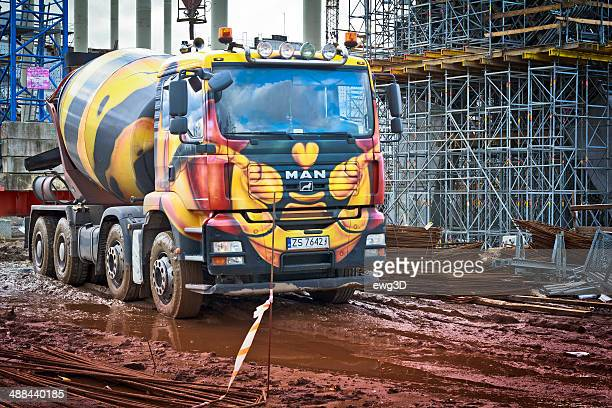Cement Truck in construction site