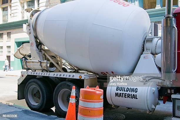 Cement truck on street