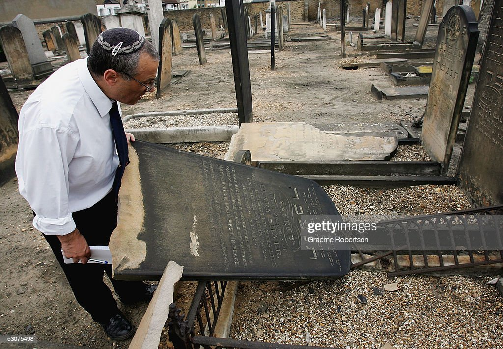 Graves Are Desecrated In Anti-Semitic Attack : News Photo