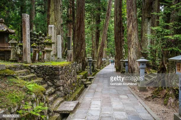 Cemetery and sacred area at Koyasan Choisi Path.