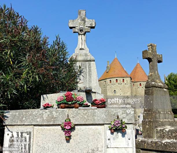 Cemetery and Towers at Carcassonne - France