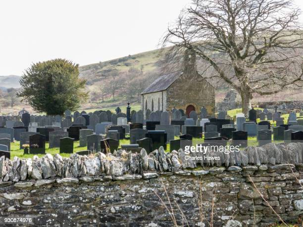 Cemetery at Strata Florida, Ceredigion. The Cambrian Way, Wales, UK