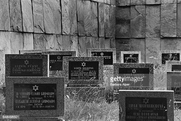 A cemetery at the former German Nazi concentration camp of Theresienstadt in Terezin in what is now the Czech Republic 15th June 1990