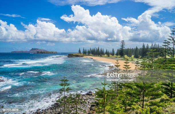 cemetery bay norfolk island - phillip island stock pictures, royalty-free photos & images