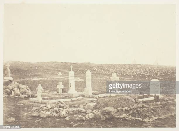 Cemetery, Cathcart's Hill, 1855. A work made of salted paper print, from the album 'photographic pictures of the seat of war in the crimea' . Artist...