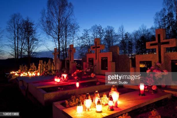 Friedhof Abend