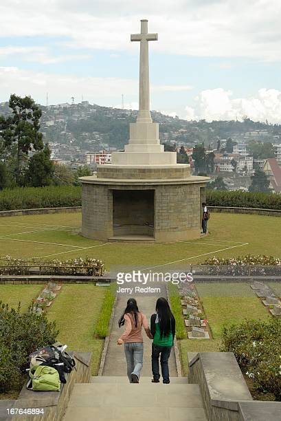A cemetery for the British war dead from World War II looks out over Kohima capital of Nagaland The city was the site of a key battle between British...