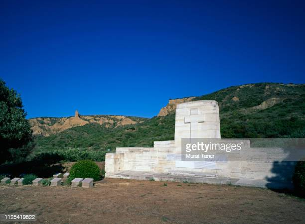 anzac cemetery in gallipoli - gallipoli stock pictures, royalty-free photos & images