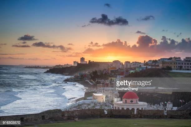 cemetery in old san juan, puerto rico - puerto rico stock pictures, royalty-free photos & images