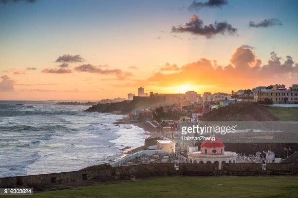cemetery in old san juan, puerto rico - san juan stock pictures, royalty-free photos & images