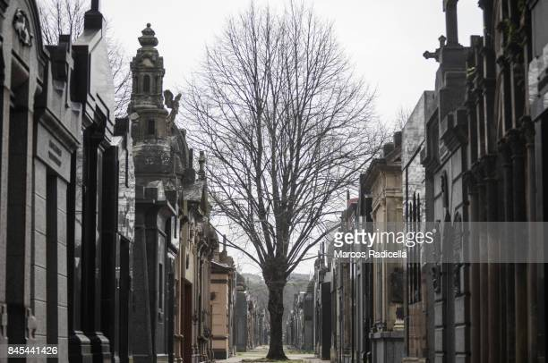 cemetery of chacarita, buenos aires, argentina - radicella stock photos and pictures