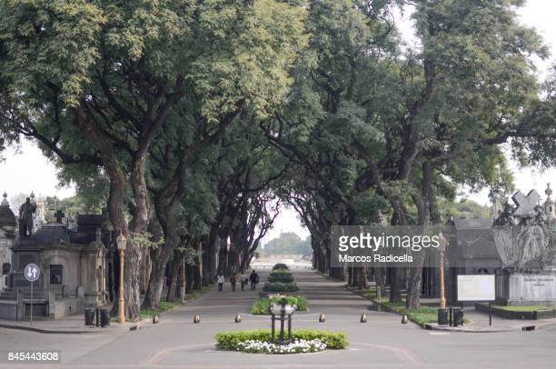 cemetery of chacarita, buenos aires, argentina - radicella photos et images de collection