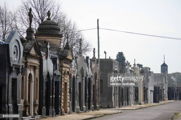cemetery of chacarita, buenos aires, argentina - radicella stock pictures, royalty-free photos & images