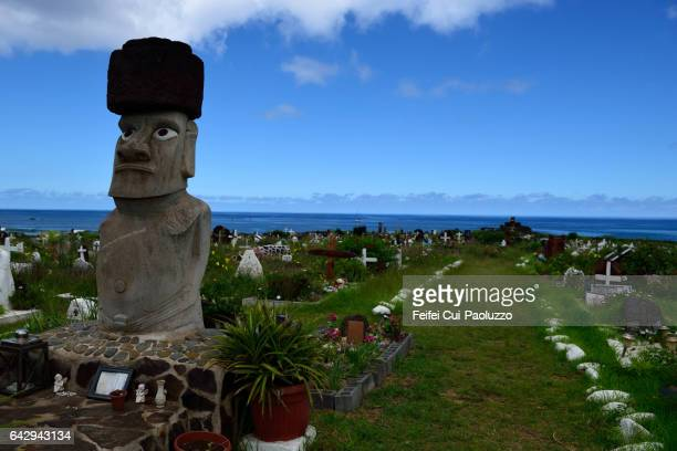 Cemetery of Hanga Roa of Easter Island in Chile
