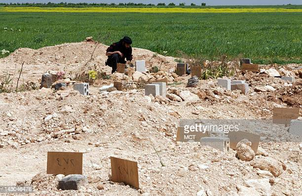 A cemetery on the outskirts of Al Buwayda further indicates the toll the Syrian rebellion has taken here In addition to 50 marked graves belonging to...