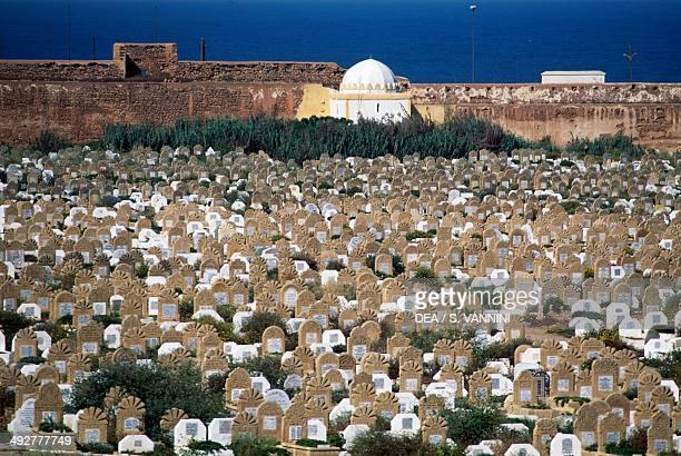 Cemetery outside the old medina in Rabat Morocco
