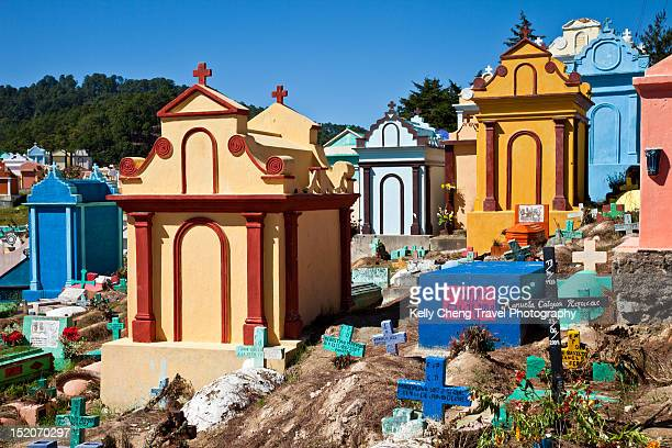cemetery - guatemala stock pictures, royalty-free photos & images