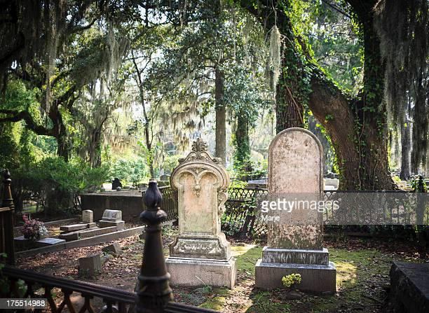 cemitério lápides - geórgia sul dos estados unidos - fotografias e filmes do acervo