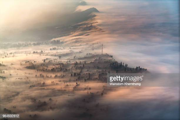 cemoro lawang mount bromo, indonesia - mount bromo stock pictures, royalty-free photos & images