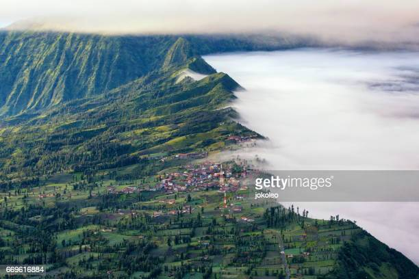 cemoro lawang village - mt bromo stock pictures, royalty-free photos & images
