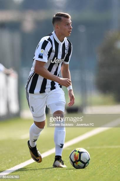Cendrim Kameraj during the Serie A Primavera match between Juventus U19 and AS Roma U19 at Juventus Center Vinovo on September 23 2017 in Vinovo Italy