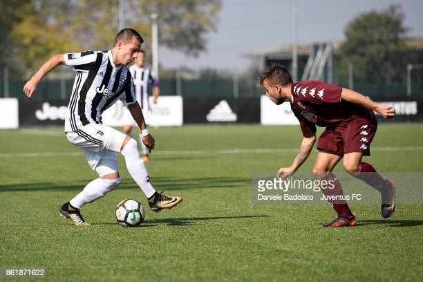 Cendrim Kameraj during the Serie A Primavera match between Juventus U19 and Torino FC U19 at Juventus Center Vinovo on October 14 2017 in Vinovo Italy